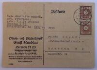 Alliierte Besetzung MeFr. Sowj. Zone Dreden 11.2.1946