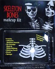 HALLOWEEN MAKEUP KIT – SKELETON RIB BONES with STENCILS & MAKEUP  – NIP