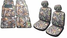 Camo Seat Cover Front Pair Floor Mats Camouflage Gray Forest Fits Chevy Colorado