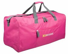 Ladies EXTRA LARGE BIG Sports & Gym Duffle Holdall Bag TRAVEL WORK MIG PINK 2016