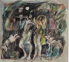 Original Watercolor Painting by East Indian Artist Dhiraj Chowdhury (1936-2018)