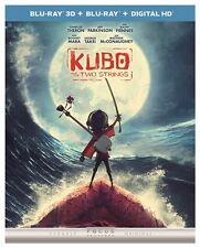 KUBO AND THE TWO STRINGS New Sealed Blu-ray 3D + Blu-ray