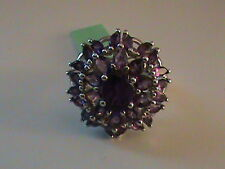 Amethyst Ring in Sterling Silver Size 6.5