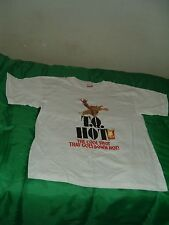 "TWO   T.Q. HOT Men's White T-shirts size XL"" The Cool Shot That Goes Down Hot! """