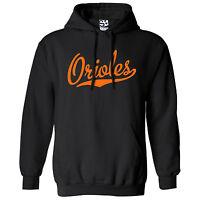 Orioles Script & Tail HOODIE - Hooded School Sports Team Sweatshirt - All Colors