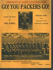 Go You Packers Go 1931 Baum's Department Store Football Sheet Music