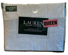 Lauren Ralph Lauren Light Taupe Paisley Design Queen Sheet set,4 pcs 100% Cotton