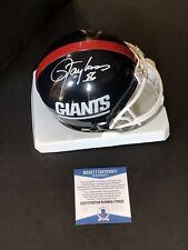 Lawrence Taylor autographed signed Throwback Mini Helmet Beckett BAS COA Giants