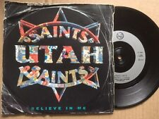 "UTAH SAINTS 7"" 45rpm SINGLE  - BELIEVE IN ME / WHAT CAN YOU DO FOR ME"
