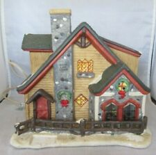 Moose Lake Lodge Lighted Porcelain Christmas House