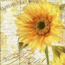 Rooster 535 Letters 4single paper decoupage napkins sunflower sunflowers
