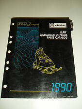 SKIDOO 1990 PARTS CATALOG  MANUAL ELAN