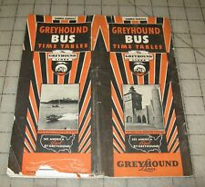 """1936 Greyhound Time Tables """"Summer Schedule"""" Fold-Out Brochure, Great Lakes Expo"""