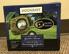 Moonrays 91211 Solar Powered Rock Spotlight with Key Holder Garden Accent NEW!!