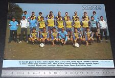 CLIPPING POSTER FOOTBALL 1985-1986 D2 CS THONON JOSEPH-MOYNAT