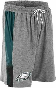 Zubaz NFL Football Mens Philadelphia Eagles Gray Space Dye Shorts