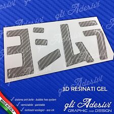 1 Adesivo Resinato Sticker 3D gel YOSHIMURA moto Carbon Look WHITE 100 x 53 mm