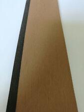 12.5 Meter Roll Synthetic Teak Decking With Black Caulking Line Stripe 50mm Wide