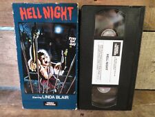 Hell Night Starring Linda Blair VHS Tape