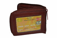 New Mens Bifold Zipper Around Leather Wallet Secure Multi Pockets Billfold