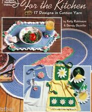 Crochet for the Kitchen PATTERNS Placemats Aprons Potholder Rug Roses Daisy