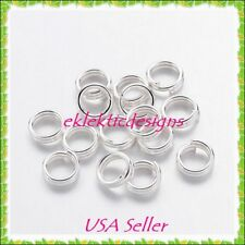 6mm 50pcs Silver Plated Split Dbl Jump Rings Jewelry Findings Earrings Necklace