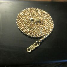 """14K yellow gold necklace 3.5 grams 18 1/4"""" long"""
