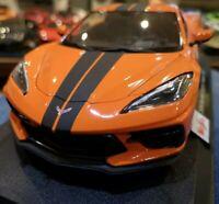 Chevrolet corvette stingray coupe- Orange  - Diecast Model Car Maisto 1:18 Scale