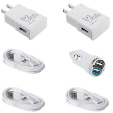 6FT Samsung Galaxy S4 S3 S2 Micro USB Data Cable +Home Wall Charger OEM Quality