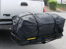 """45"""" Expendable Cargo Carrier Bag Hitch Mount Roof Rack Luggage Weather-Resistant"""