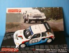 PEUGEOT 205 TURBO 16 EVO 2 #1 1000 LAKES RALLY 1986 SALONEN HARJANNE IXO 1/43