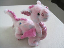 "Ganz WHIMSY DRAGON 7"" Pink Plush Stuffed Animal"