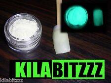 Glow in the Dark AQUA Nail Powder - Acrylic or Varnish