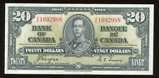 1937 Bank of Canada $20 Coyne Towers Signatures - AU Condition - S/N: K/E1692988