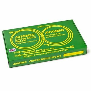 Automec - Brake Pipe Set AC Aceca Bristol drum brakes (GB1088) Copper, Line