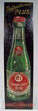 Old B-1 LEMON LIME SODA Advertising Sign c1940 embossed tin B-1 Beverage Co