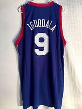 Adidas Swingman NBA Jersey Philadelphia 76ers Andre Iguodala Blue sz XL