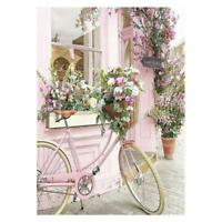 Flower Bike DIY 5D Full Drill Diamond Painting Embroidery Cross Stitch Kit Decor