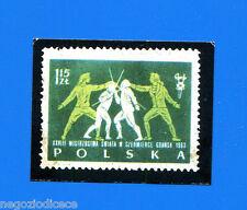 Figurina CAMPIONI DELLO SPORT 1970/71-Francobollo n. 129A - POLSKA -rec