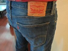LEVIS 505 MENS JEANS REGULAR STRAIGHT FIT TAG: 36X32 - ACTUAL SIZE 34X30