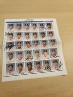 Pawtucket Red Sox Autographed Team News Paper Poster Boston