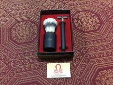 Omega Made in Italy Men's Razor & Brush Set
