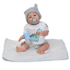 20'' Full Body Silicone Reborn Baby Doll Handmade Boy Lifelike Toddler Bebe Gift