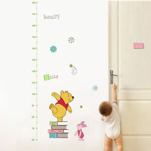 Winnie the pooh Height Chart Wall Sticker Kid Room Decor Nursery Decal Removable