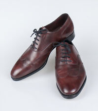 New JOHN LOBB Warwick Claret Misty Calf Leather Oxford Shoes Size 9.5 U.K. $1795