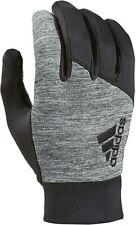 New Men's Adidas Go Climawarm Insulation Athletic Running Gloves - Grey/Black