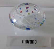 Murano Fratelli & Toso Millefiori with White Swirl Lines Glass Bowl