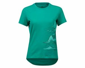 Pearl Izumi Mesa Tee Jersey Women's Short Sleeve Large Malachite Mountain Route