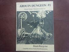 Arduin Dungeon #1 Grimoire Caliban rpg book David Hargrave Rare