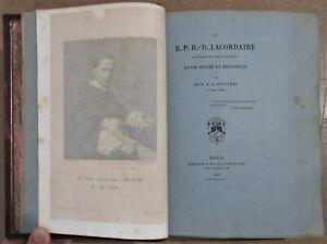 EDITION DE LUXE IMPRIMEE SUR PAPIER BLEU 1866 LACORDAIRE BIOGRAPHIE RELIGION